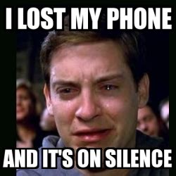I Lost My Phone Meme - meme crying peter parker i lost my phone and it s on