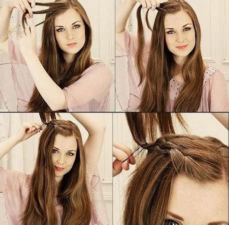 make easy hairstyles at home easy to do at home hairstyles