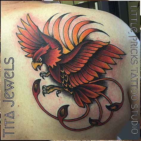 kent tattoo phoenix little pricks tattoo studio traditional inspired phoenix