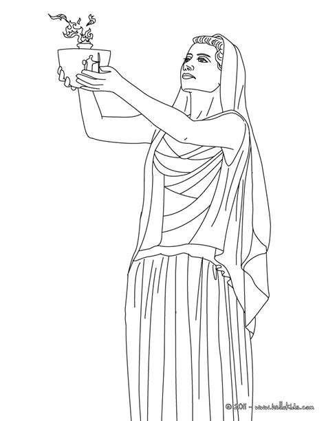 hestia coloring pages