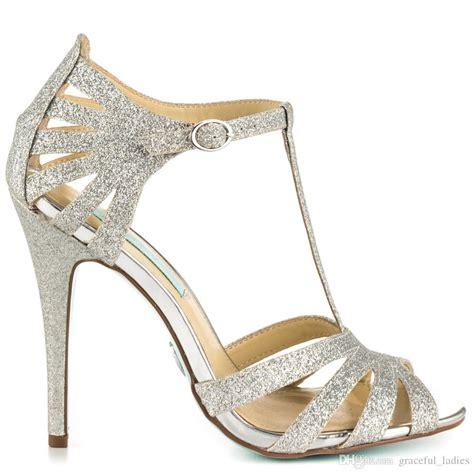 Hochzeitsschuhe Glitzer by Silver Glitter Wedding Shoes Stiletto Open Toe Made To