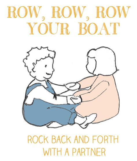 row your boat actions row row row your boat first nursery rhymes let s play