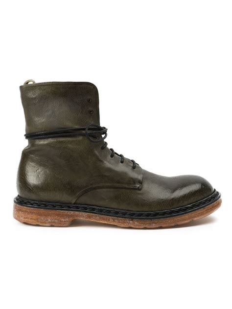 officine creative mens boots officine creative krivine boots in green for lyst