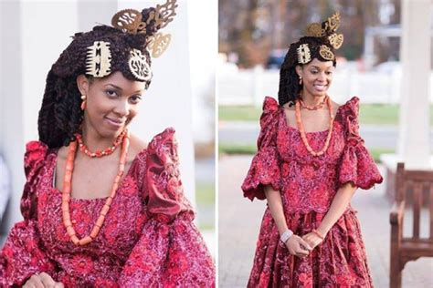 Wedding Attire Language by Beautiful Efik Brides In Their Costume Culture Nigeria