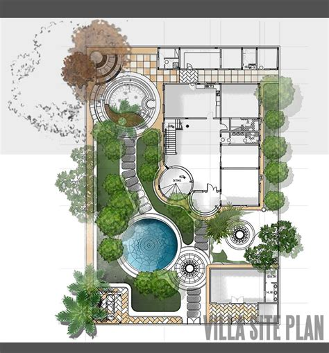 site planning and design villa site plan design landscape architecture