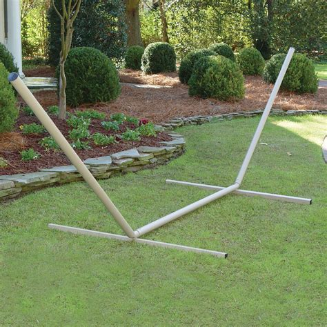 Metal Hammock Stand Free Standing 15 Ft Metal Hammock Stand Taupe Dfohome