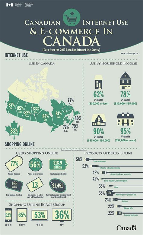 Internet Survey - infographics internet use and e commerce data from the