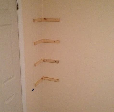how to make wall shelves how to build simple corner wall shelving yourself diy removeandreplace