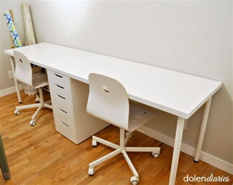 white two person desk two person workstation place desk two