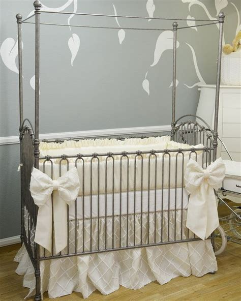 Crib Bedding Gender Neutral The Collection Silk Crib Bedding With Overlay Crib Bumpers Silk And Gender Neutral