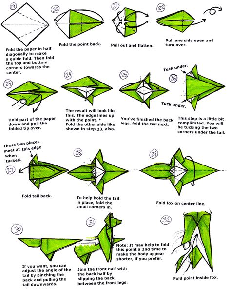 Origami Fox Diagram - origami fox diagram 28 images origami fox jo nakashima