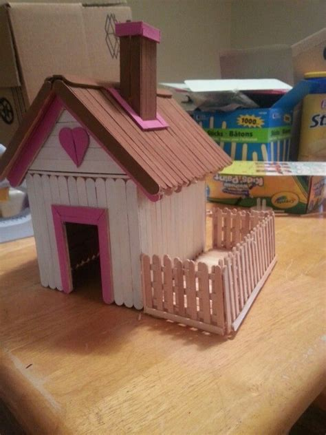 popsicle stick house 56 best images about craft stick houses on pinterest