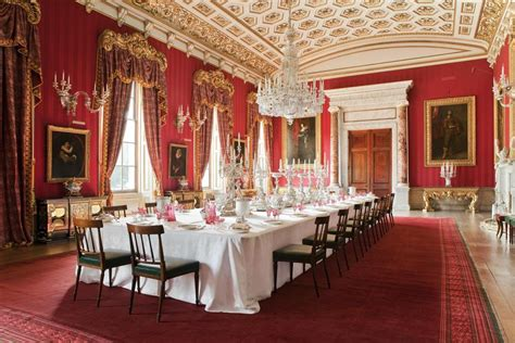 Grand Dining Room Chatsworth House In Derbyshire Magnificent Stately Home In The Peak District