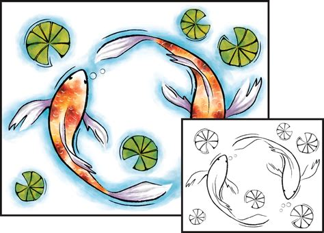 koi fish colors watercolor painting japanese koi fish