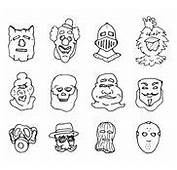 Funny Cartoon Masks Stock Photos Images &amp Pictures  137