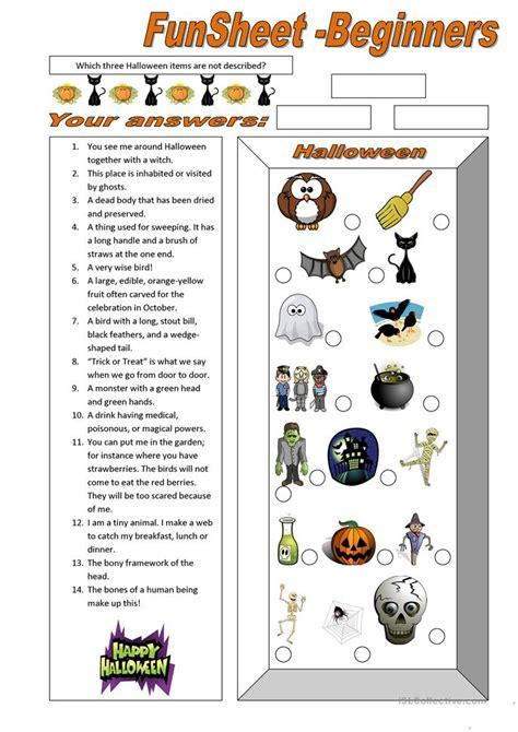esl printable worksheets halloween funsheet for beginners halloween worksheet free esl