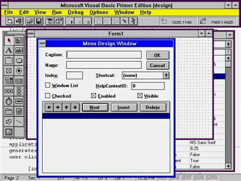 design menu in vb6 visual basic in 12 easy lessons vel19 htm