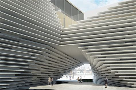 Kengo Kuma Rethinks The Of Eavesdrop Gt Breaking The Bank Price Of Kengo Kuma S Dundee V A Museum Soars Sky High Archpaper
