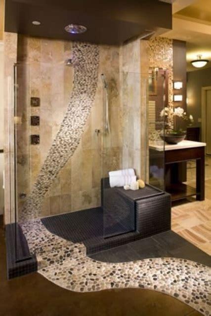 river stone bathroom polished cobblestone pebble tile river pebbles pebble