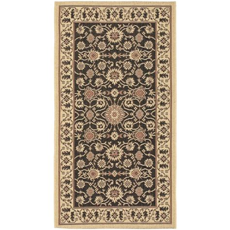 Outdoor Rugs Home Depot Safavieh Courtyard Black 2 Ft 7 In X 5 Ft Indoor Outdoor Area Rug Cy6126 26 3 The