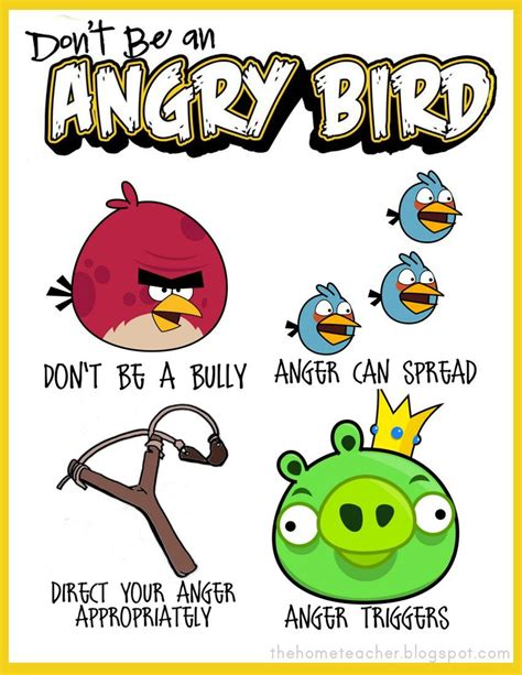 angry birds anger management worksheets quot don t be an angry bird quot printables this is the best and