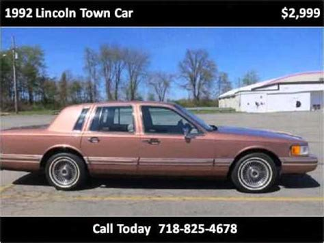 car maintenance manuals 1992 lincoln town car on board diagnostic system 1992 lincoln town car used cars walden ny youtube