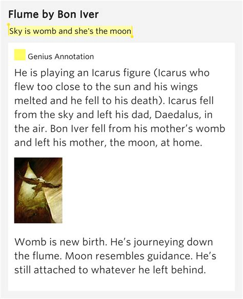 Bon Iver Meaning Sky Is Womb And She S The Moon Flume Lyrics Meaning