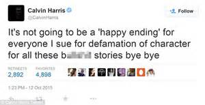 with his termed twitter account rubbishing the rumors his close friend calvin harris slams taylor swift split claims calling it