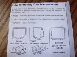 transmission identification chevrolet forum chevy