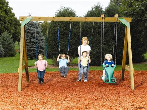 diy swing set ideas do it yourself swing sets plus slides regarding amazing