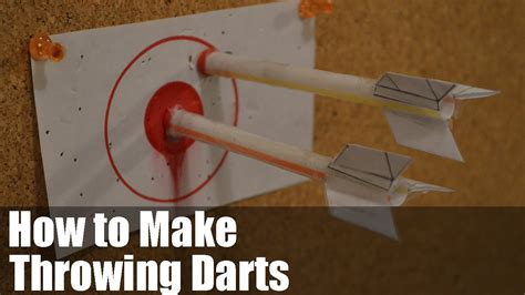 How To Make Paper Darts - how to make throwing darts