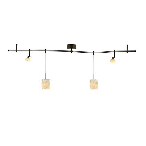 Decorative Track Lighting Fixtures Tiella 4 Light Bronze Decorative Track Light With Latte Glass Lowe S Canada