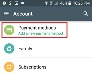 Play Store Payment How To Remove Credit Card From Play Store