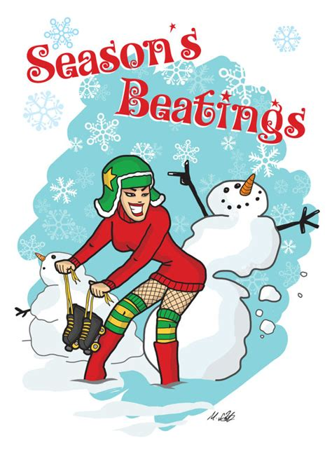 items similar to roller derby seasons beatings christmas