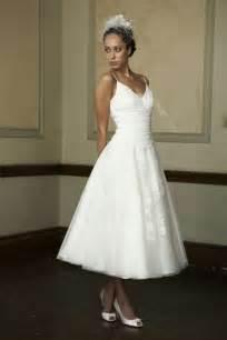 Beautiful make up is our hallmark tea length wedding dress