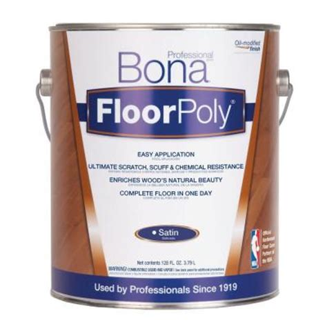 bona 1 gal satin floor finish om floorpoly st750618063