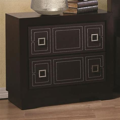 Black Leather Nightstand by Coaster 200662 Black Leather Nightstand A Sofa