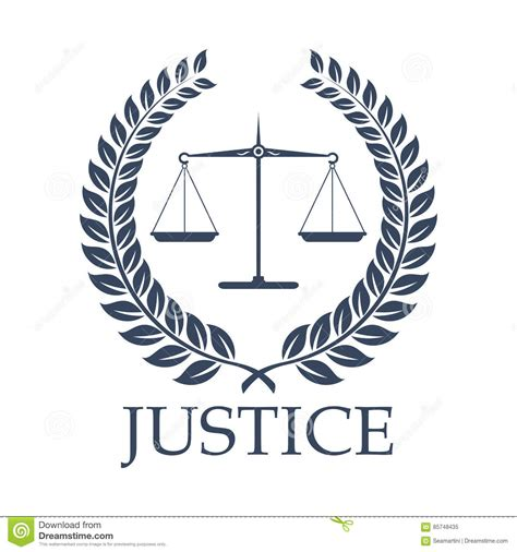 lawyer logo vector free justice scales and vector laurel wreath icon stock vector image 85748435