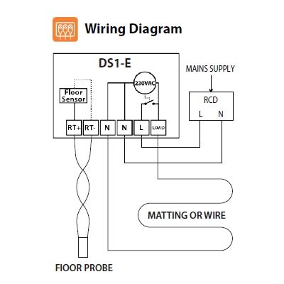 underfloor heating thermostat wiring diagram water