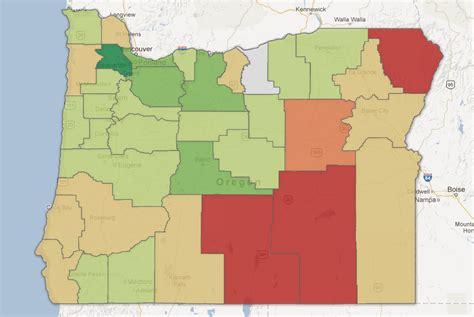 map of oregon elevation map oregon population change the oregonian