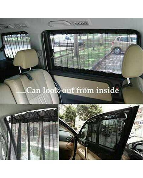 Tirai Kaca tirai mobil gorden kaca mobil 2 pcs hitam