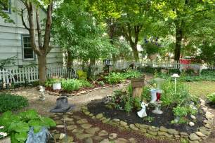 Shaded Backyard Ideas Too Shady For Grass Hamburg Yard Is Filled With Gardens