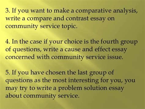College Application Essay On Community Service Essay Questions About Community Service