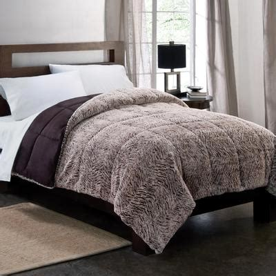 textured bedding colormate gray plush down alternative textured comforter