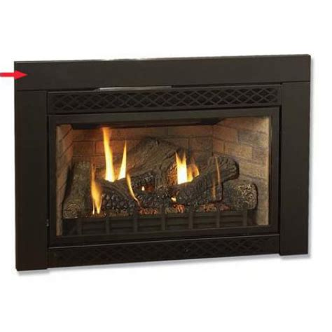 Majestic Fireplace by Black Flat 46 In W X 32 In H Surround For Majestic