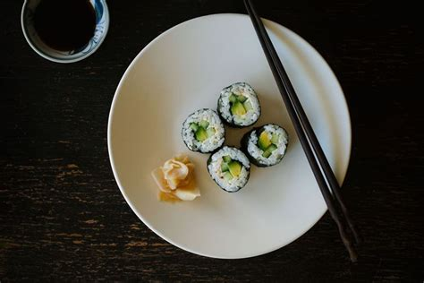 vegetarian sushi  home