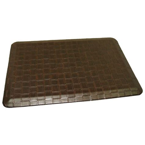anti fatigue mat kitchen rhino anti fatigue mats rhino comfort craft catmandoo mocha 24 in x 36 in poly urethane blend