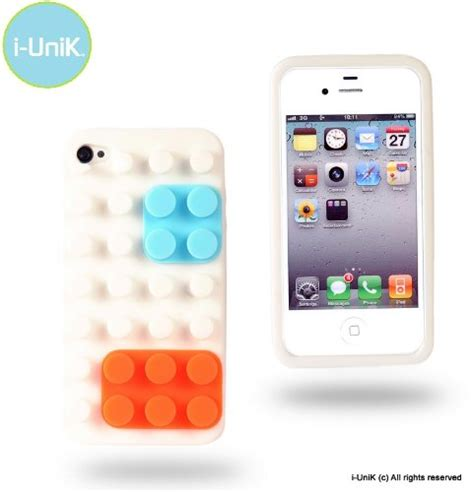 Soft Karakter Go I Phone 4 i unik igoblocks series iphone 4s 4 soft designer protection polar white