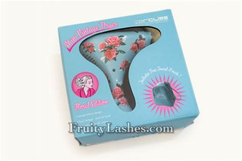Corioliss Mini Vintage Hair Dryer Review corioliss mini vintage dryer floral edition review fruity lashes