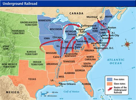 underground railroad map underground railroad